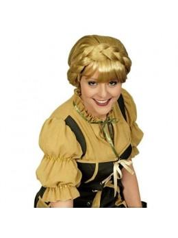 Perruque moyen age courte blonde