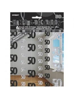 Rideau de porte 50 ans noir/argent