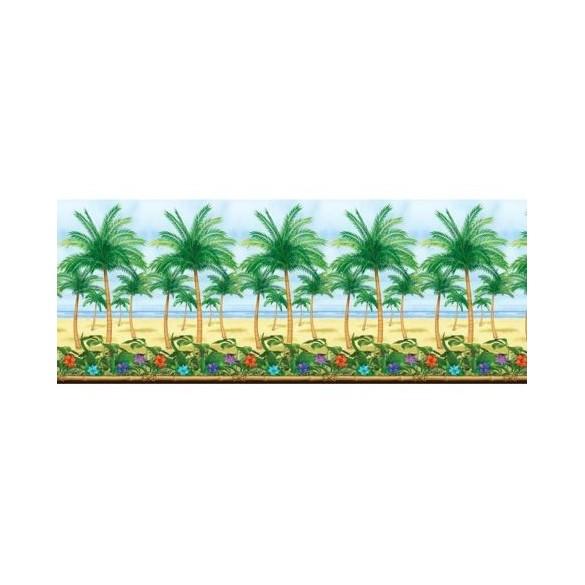 Rouleau déco plage et palmiers