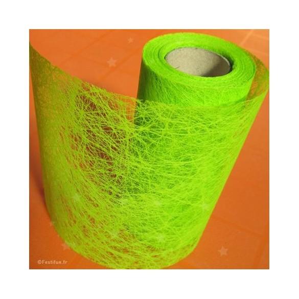 Ruban fibre vert anis