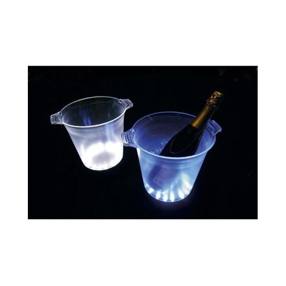 Seau à champagne translucide à LED