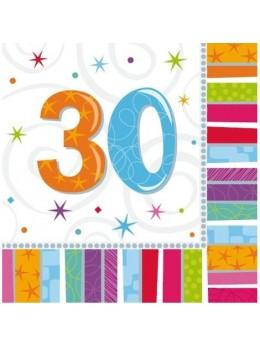 16 Serviettes age 30ans