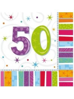 16 Serviettes age 50ans