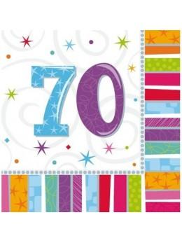 16 Serviettes age 70ans