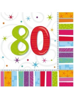 16 Serviettes age 80ans