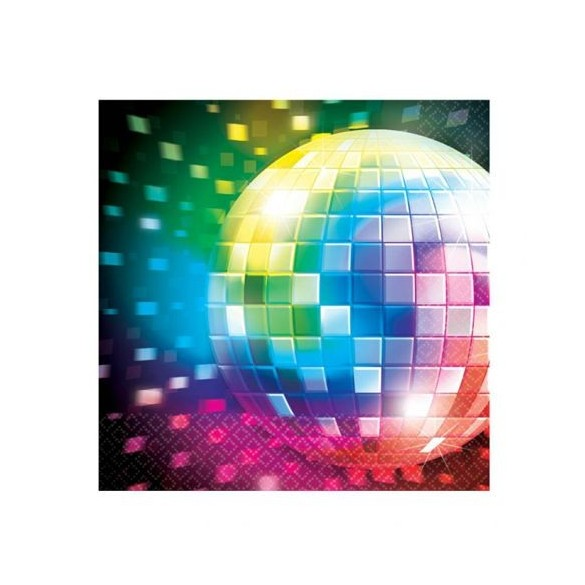 16 Serviettes Lunch disco fever