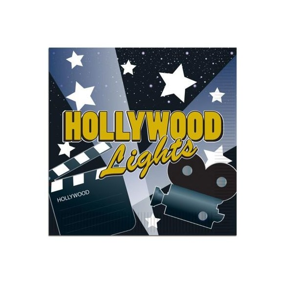 16 Serviettes lunch hollywood lights