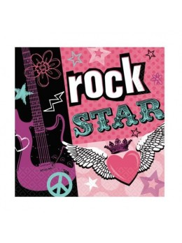 16 Serviettes lunch rock star