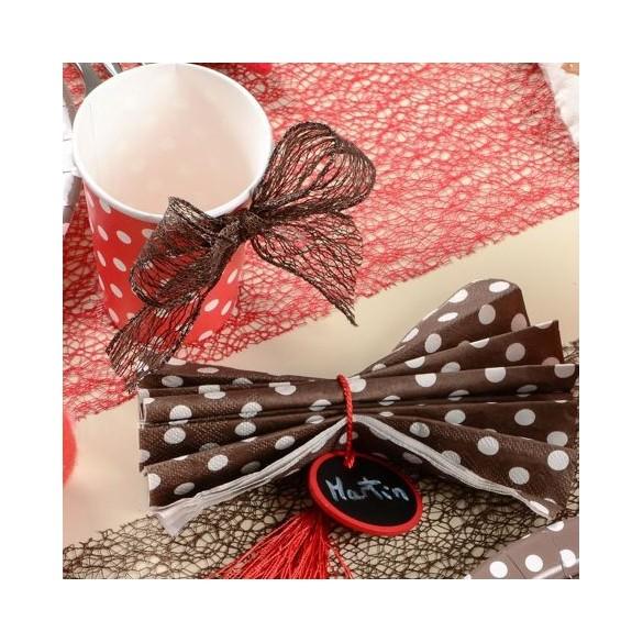 20 Serviettes pois chocolat