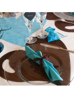 50 Sets de table coeur chocolat