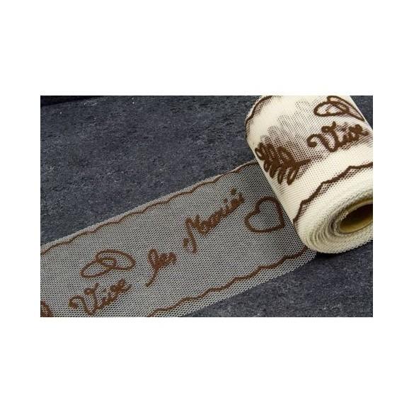 Tulle vive les mariés chocolat