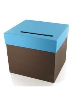 Urne chocolat turquoise