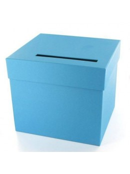 Urne unie turquoise