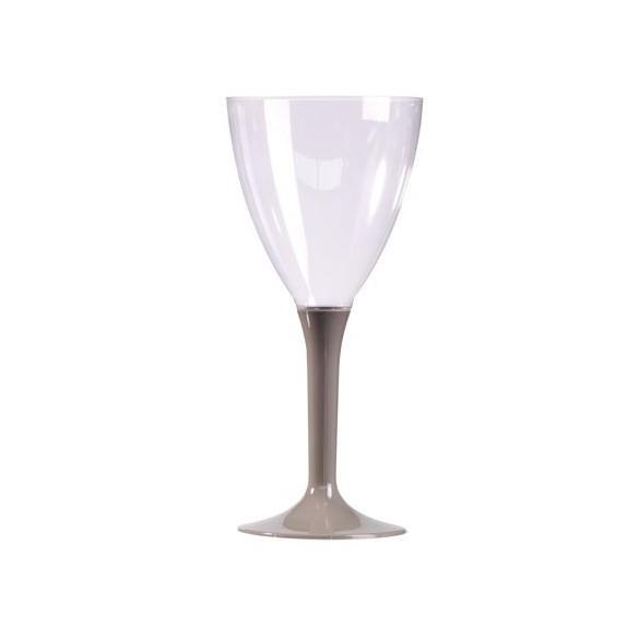 10 Verre à vin/eau gris