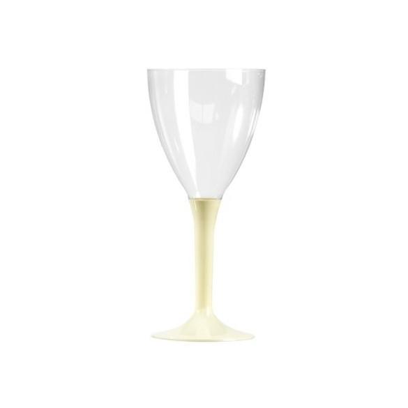10 Verre à vin/eau ivoire
