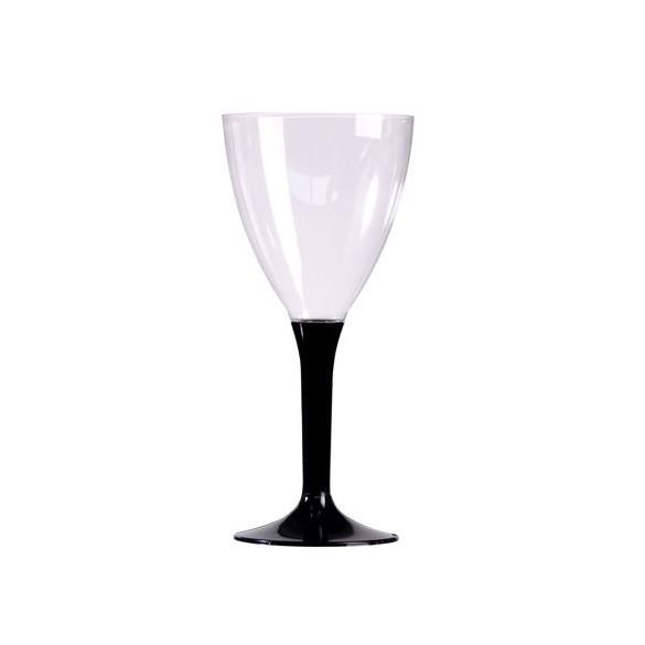 10 Verre à vin/eau noir