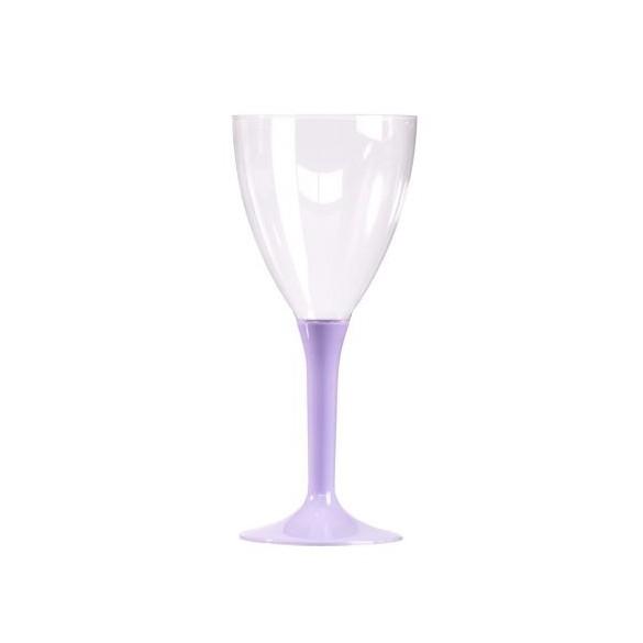 10 Verre à vin/eau parme