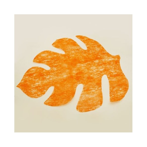 4 Sets de table feuille orange