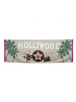 Bannière tissu Hollywood 2m20