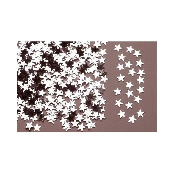 Confetti étoiles argent