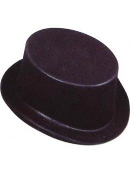 Gibus plastique floqué noir