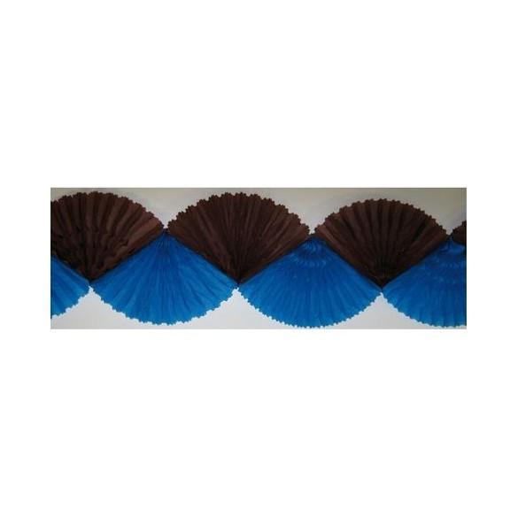 Guirlande éventail chocolat turquoise