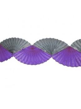 Guirlande éventail gris aubergine