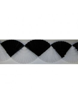 Guirlande éventail noir blanc