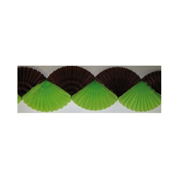 Guirlande éventail vert chocolat