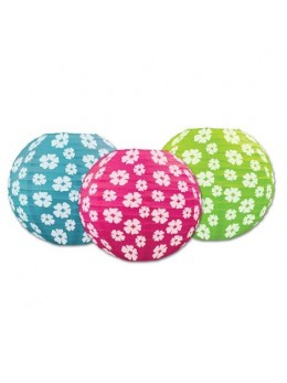 3 Lampions ballon Hibiscus
