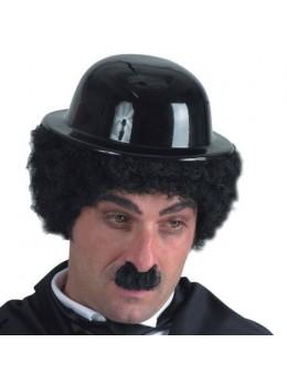 Perruque charlot avec chapeau