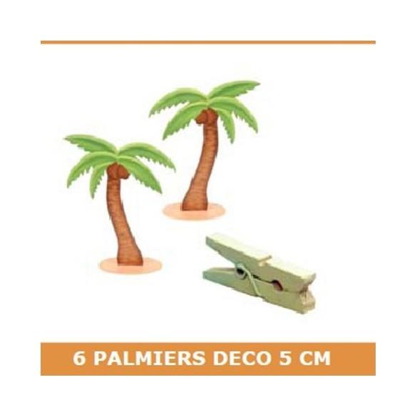 6 Palmiers bois 5cm