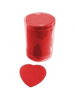 Confetti de scène coeurs rouge