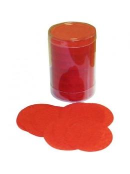 Confetti de scène rond rouge