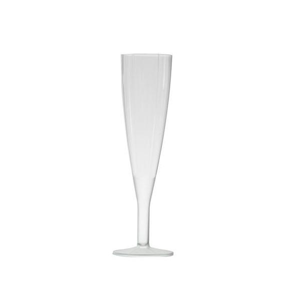 10 flutes à champagne transparentes