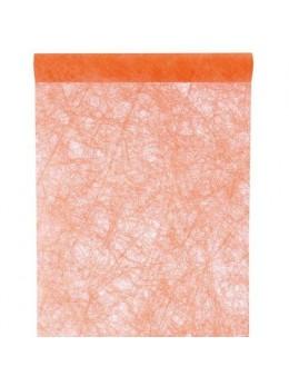 Chemin de table intissé luxe orange 10m