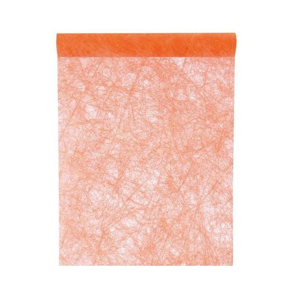 Chemin de table intissé luxe orange 10m