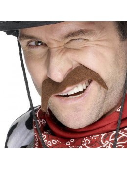 Moustache cowboy chatain