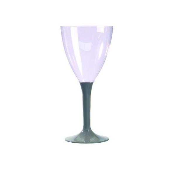 10 Verre à vin/eau taupe