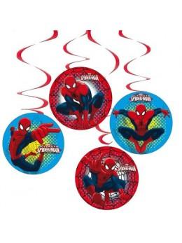 4 Suspensions Spiderman