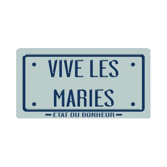 Plaque argent Just Married