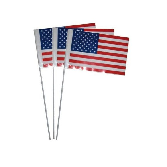 10 Drapeaux papier USA