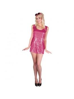 Déguisement robe disco fuchsia