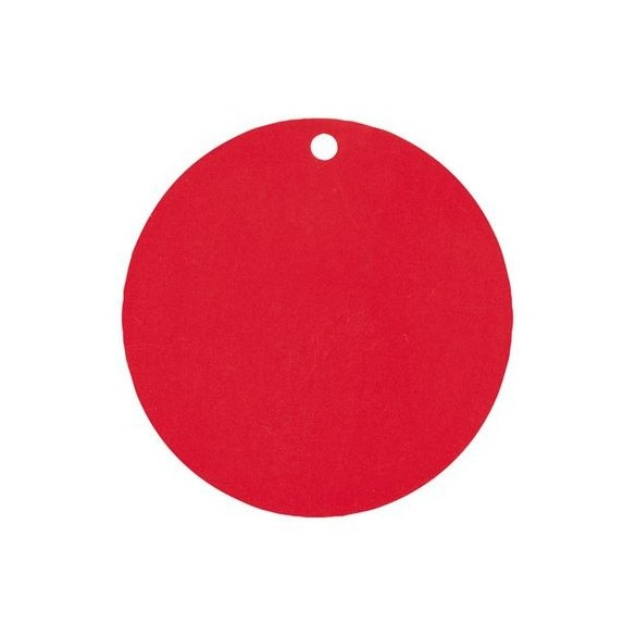 Marque place rond rouge