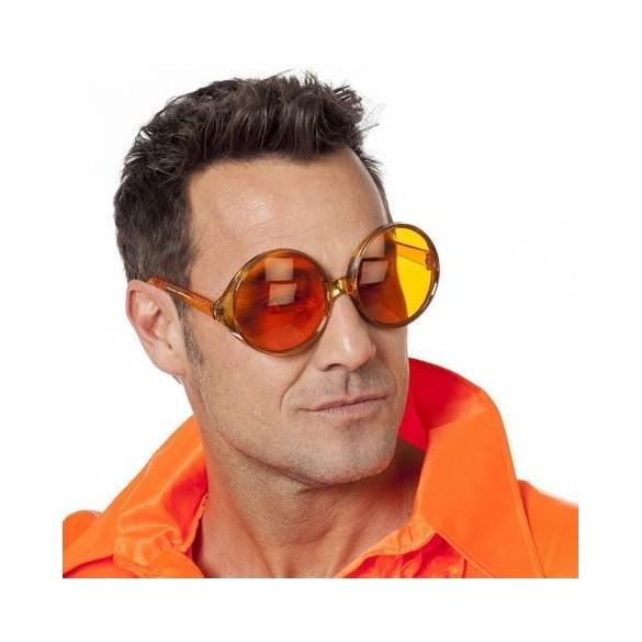Lunettes hippie géante orange