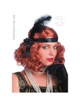 Perruque Twenties rousse
