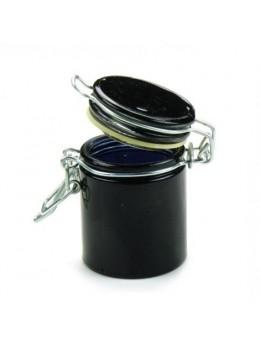 Pot à dragées confiturier noir