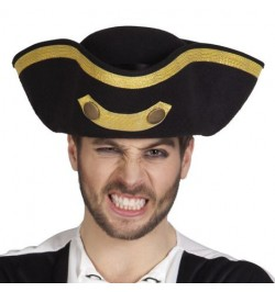 Tricorne pirate deluxe