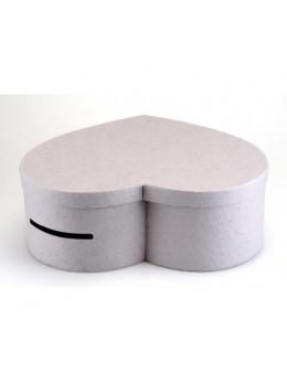 Grande urne coeur gris