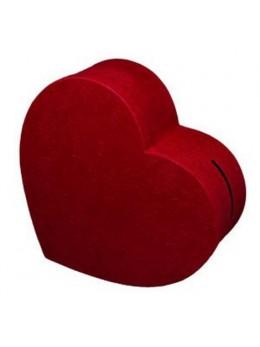 Grande urne coeur bordeaux